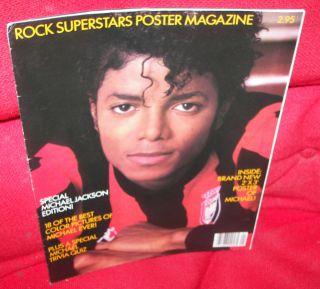 Michael Jackson Poster Magazine 1984 Rock Superstars