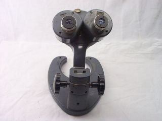 Vintage Bausch Lomb Binocular Microscope 20x w F Model Number ED8918