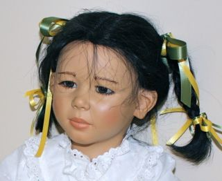 MICHIKO 1988 ANNETTE HIMSTEDT DOLL PLUS CUSTOM MADE DRESS Mint in