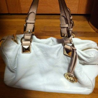 Michael Kors Off White Leather Tote