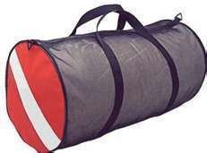 Deep See duffle bag, mesh with dive flag , snorkel bag scuba diving