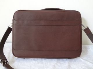 Leather Brown Laptop Briefcase Attache Messenger Case bag Body Cross