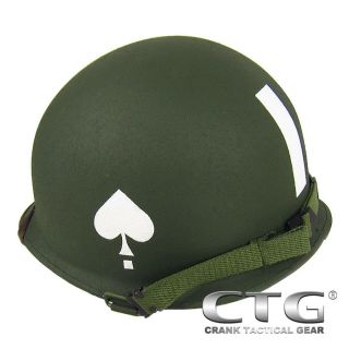 Replica WW2 M1 Metal Helmet 101st Airborne 506th for Hunting Airsoft