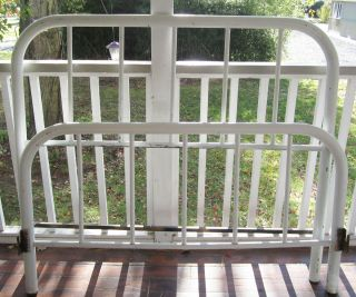Antique Metal Bed Frame Shabby Chic Full Size