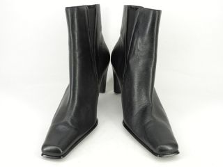 Womens Boots Black Leather Michael Shannon 8 M Ankle Heel Dress