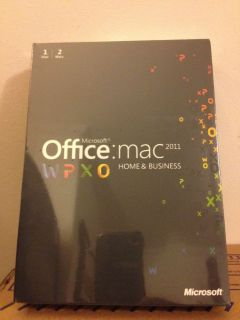 Microsoft Office Mac Home Business Multipk 2011 English for 2 Macs W9F