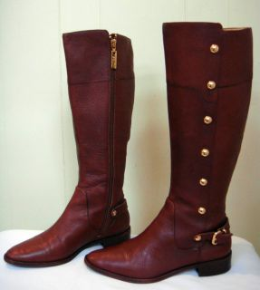 MICHAEL KORS Brown Carney Studded High Riding Boots Size 6 Mint