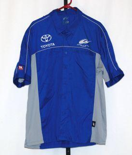Michael Waltrip MWR Race Used NASCAR Cup Series Pit Crew Shop V2 Shirt