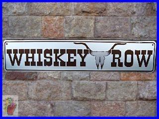 New Rare WHISKEY ROW Wild West Bar Saloon Arizona Metal Sign FREE