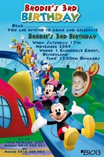 Mickey Mouse Clubhouse Personalised Birthday Invitation