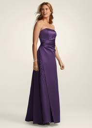 Davids Bridal Satin Organza Bridesmaid Gown Style F12385 Lapis Size