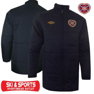 Hearts Heart of Midlothian Football Coach Jacket Mens Padded Coat New
