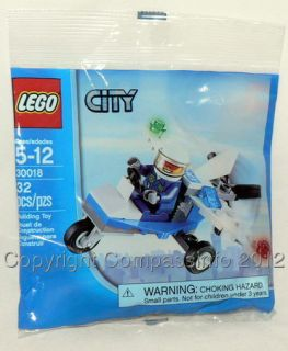 New Lego City Policeman Police Airplane 30018 Microlight