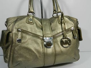 Michael Kors Riley LG Satchel Bronze
