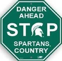 Michigan State Spartans NCAA Officially Licensed Stop Sign 12 x 12