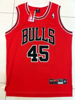 Michael Jordan Chicago Bulls 45 Swingman Red Away Jersey