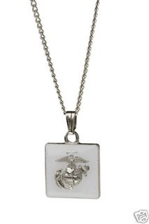 USMC Marine Corps Military Necklace Charm Jewelry