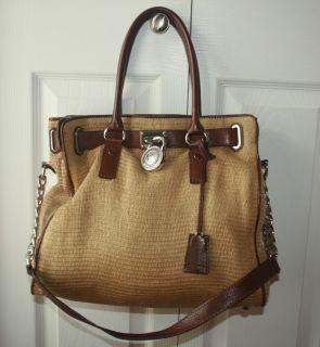 Michael Michael Kors Straw Tote Handbag Large