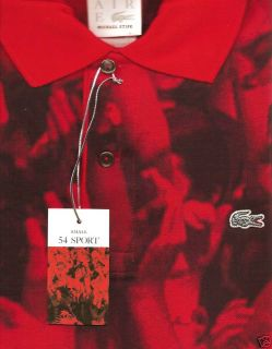 Lacoste x Michael Stipe REM Crowd Red Visionaire 54 Polo Shirt Small