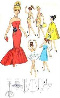 Vintage 11 5 Barbie Midge Doll Clothes Pattern 5215