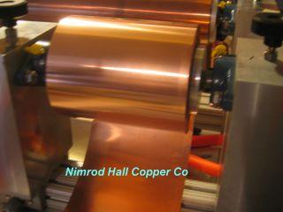 Nimrod Hall Copper Foil Sheet 1 4 mil x 6 x 5 Roll CU 110 ASTM B 152 3