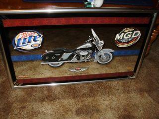 Miller Lite MGD Harley Davidson 100th Year Anniversary Mirror 1903