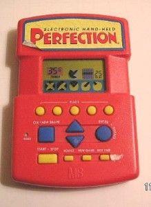 Milton Bradley Electronics PERFECTION Vintage Electronic Handheld Hand