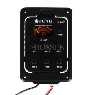 Acoustic Guitar 5 Band Preamp EQ Bass Middle Tuner Pickup New