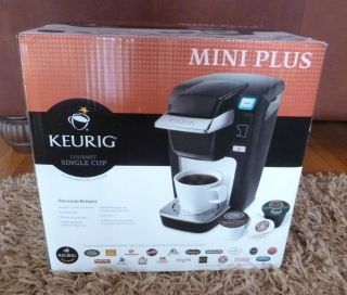 Mini Plus Personal Brewer Coffee Maker w 12 K Cups New in Box Black