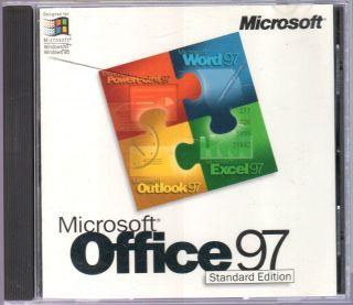 Microsoft Office 97 Standard Edition Retail 1 User s Full Version EUC