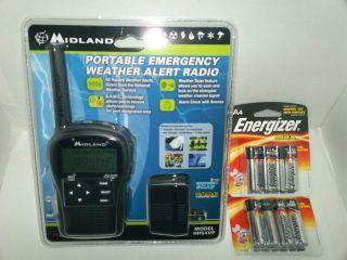 Midland Portable Emergency Weather Alert Radio Model HH54VP Includes