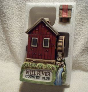 Ski Country Mill River Country Club Whiskey Decanter
