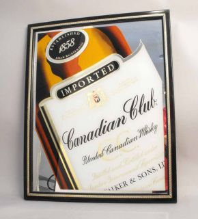 RARE Canadian Club Whisky Mirror Bar Sign