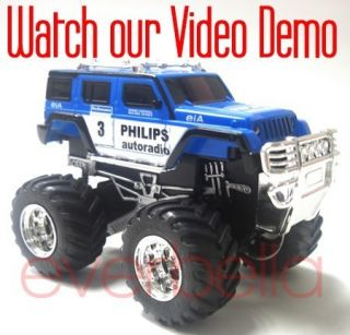 43 Mini RC Radio Remote Control Pickup Monster Truck and Jeep 9181 8
