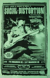 Social Distortion 2005 San Diego Tour Poster Mike Ness