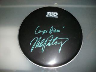 Mike Portnoy RARE Signed Drumhead Carpe Diem Dream Theater Avenged