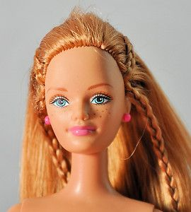 Barbie Doll Nude Happy Family Midge Red Hair Mini Braids Freckles 138