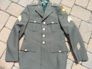 US Army Special Forces Soldiers Uniform Tunic w Airborne Insignia