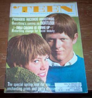 Magazine 1964 Beatles Fashion Beauty Jackie DeShannon Yvette Mimieux