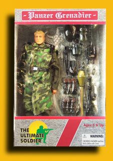 Soldier WWII German army PANZER GRENADIER 12 military action figure