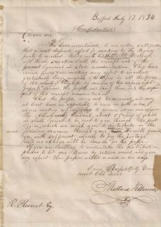 US President Millard Fillmore Autograph Letter Signed Two Signatures