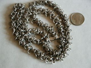 Vintage Heavy Handmade Sterling Silver Chain Necklace