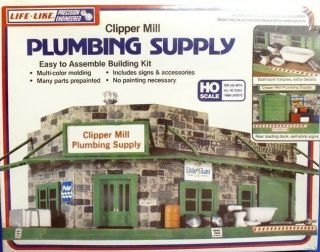 Like Structure #1357 Clipper Mill Plumbing Supply Plastic Kit HO Scale