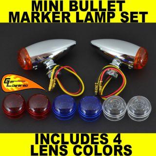 Harley Motorcycle Mini LED Bullet Marker Lamp Set Light