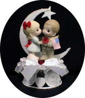 Army Navy Soldier Precious Moment Figure Wedding Cake Topper