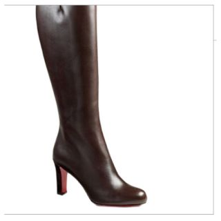 100 Auth Christian Louboutin Miss Tack Botta Dark Knee Boots $1295 36