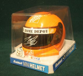 Tony Stewart Signed Mini Helmet NASCAR Sprint Cup Champion Smoke