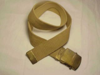 WWII US Army USMC Marine USAAF Khaki Uniform Pants Trousers Belt