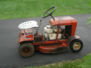 Rugg Carpet Mower Vintage Riding Mower Small Original 1964 Runs Lawn
