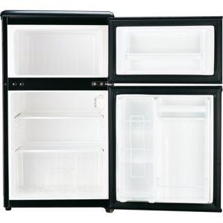CU ft 2 Door Refrigerator Freezer Stainless Steel Compact Mini